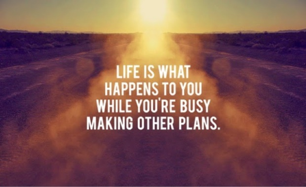 "Allen Saunders: ""Life is what happens to you while you're busy making other plans."""