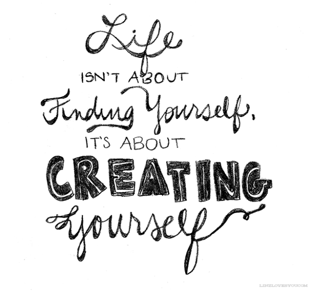 "George Bernard Shaw: ""Life isn't about finding yourself. Life is about creating yourself."""